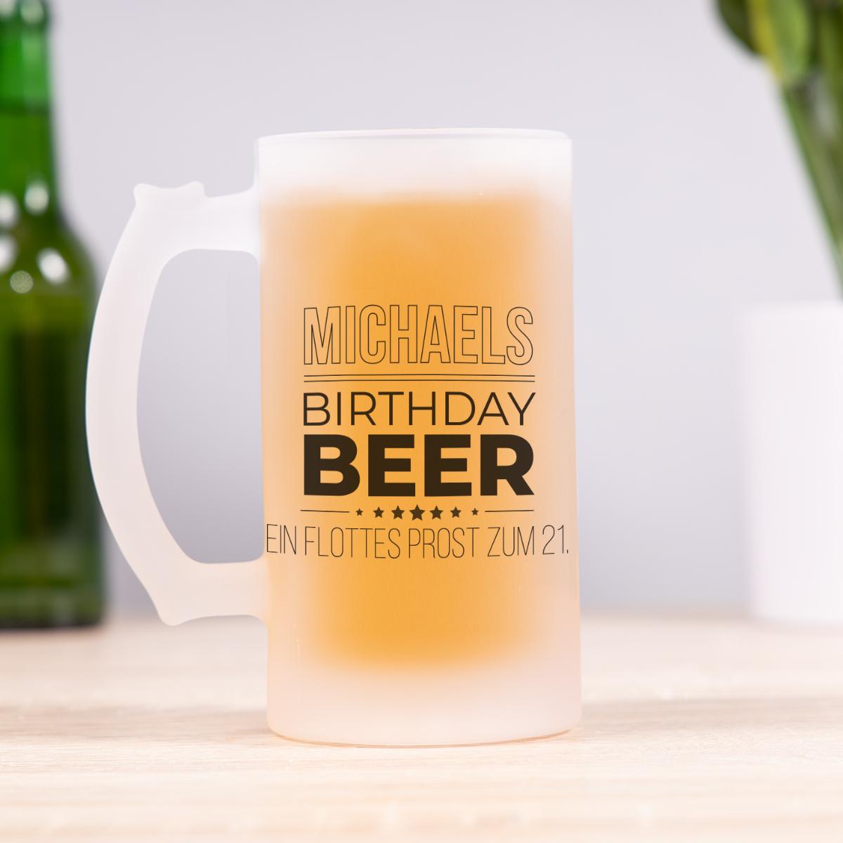 Bierkrug zum Geburtstag