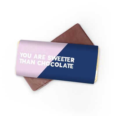 Personalisierbare Schokolade