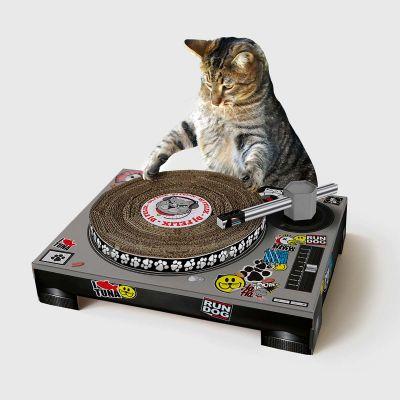 Kratz-Plattenspieler für Katzen