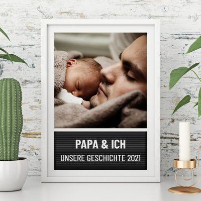 Poster Buchstabentafel mit Bild und Text