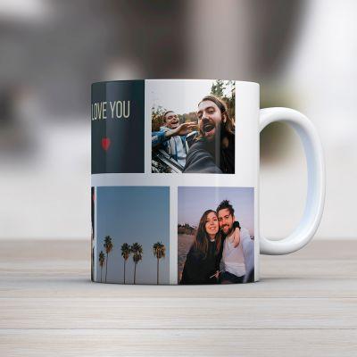 Abschiedsgeschenk personalisierbare Tasse mit Fotos
