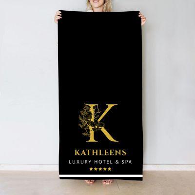 Handtuch Monogramm im Hotel-Design