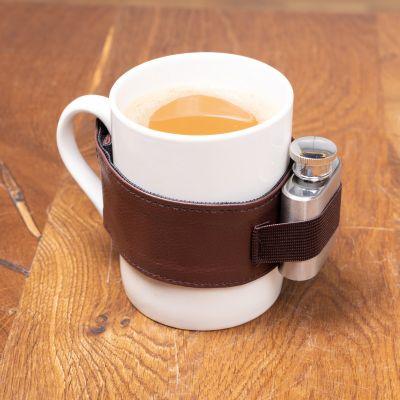 Abschiedsgeschenk Kaffeetasse mit Schuss