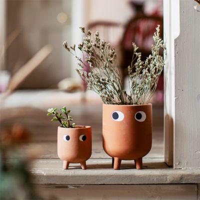 Leggy Terracotta Blumentopf