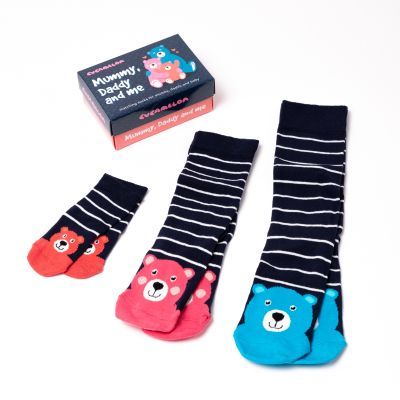 Mama, Papa und ich Socken 3er-Set