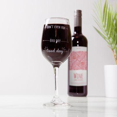 Abschiedsgeschenk Weinglas mit Stimmung
