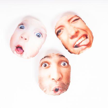 Kuschel-Kissen mit Gesicht