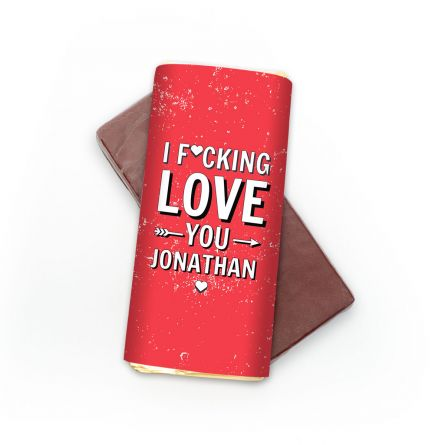 Personalisierbare Schokolade I F[...]ing Love You