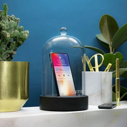 Smartphone Glashaube mit Bluetooth Lautsprecher