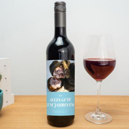 Rotwein mit Bild und Text