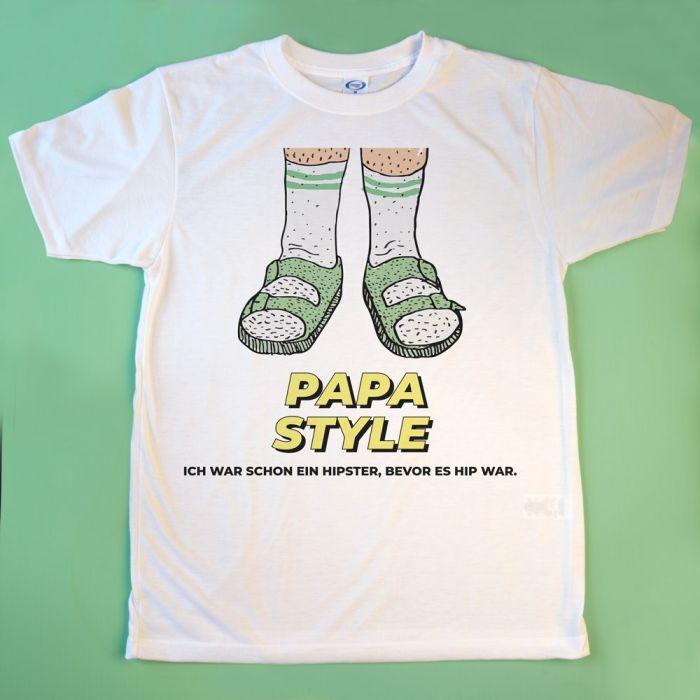 T-Shirt Sandalen mit Text