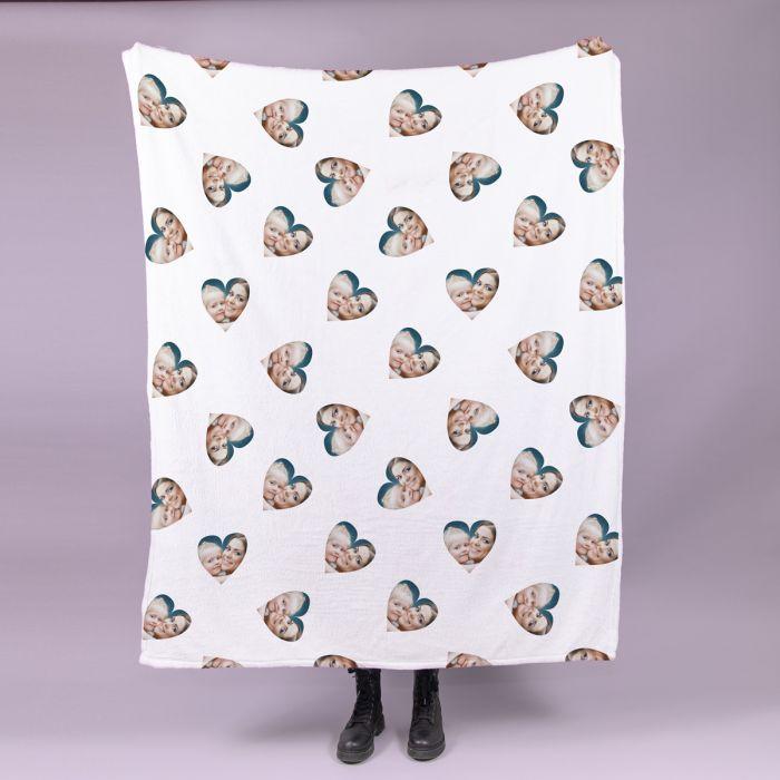 Kleine Decke mit Herz Multi-Gesicht
