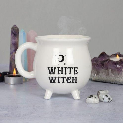 Hexenkessel Tasse in Weiß