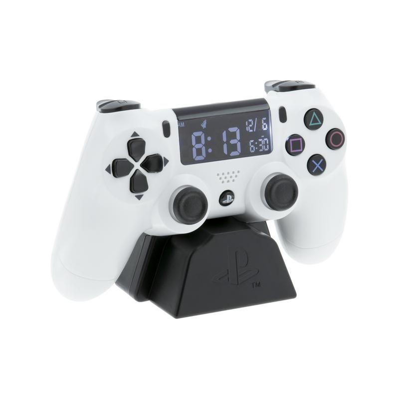 Playstation Controller Wecker Weiß