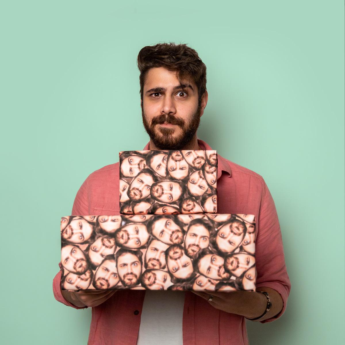 Weihnachtsgeschenke für Männer personalisierbares Geschenkpapier