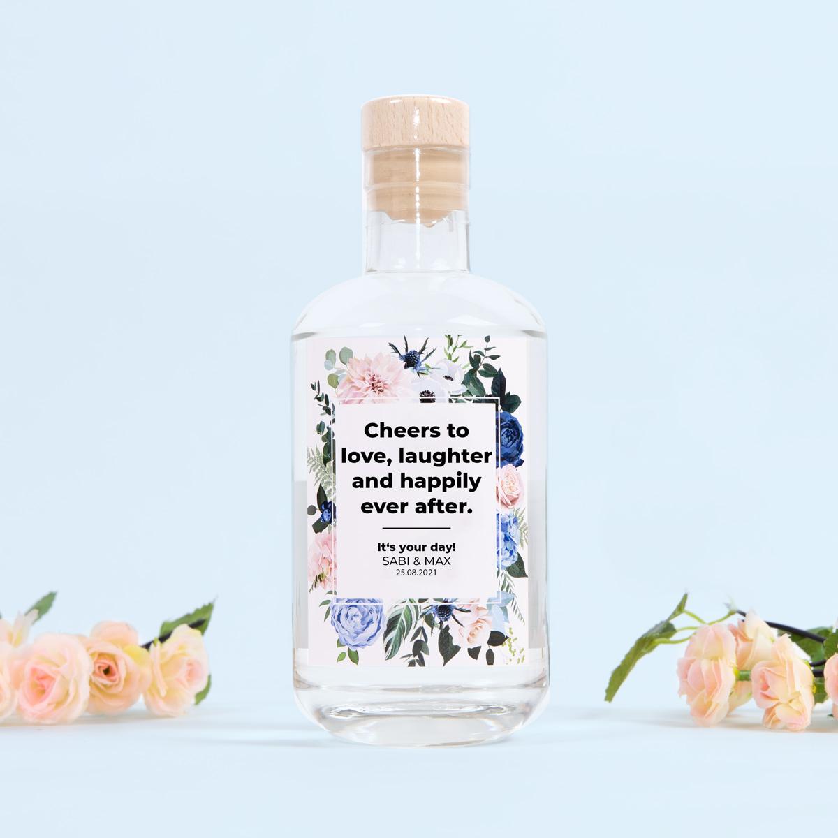 Hochzeitsgeschenke personalisierter Gin mit Text