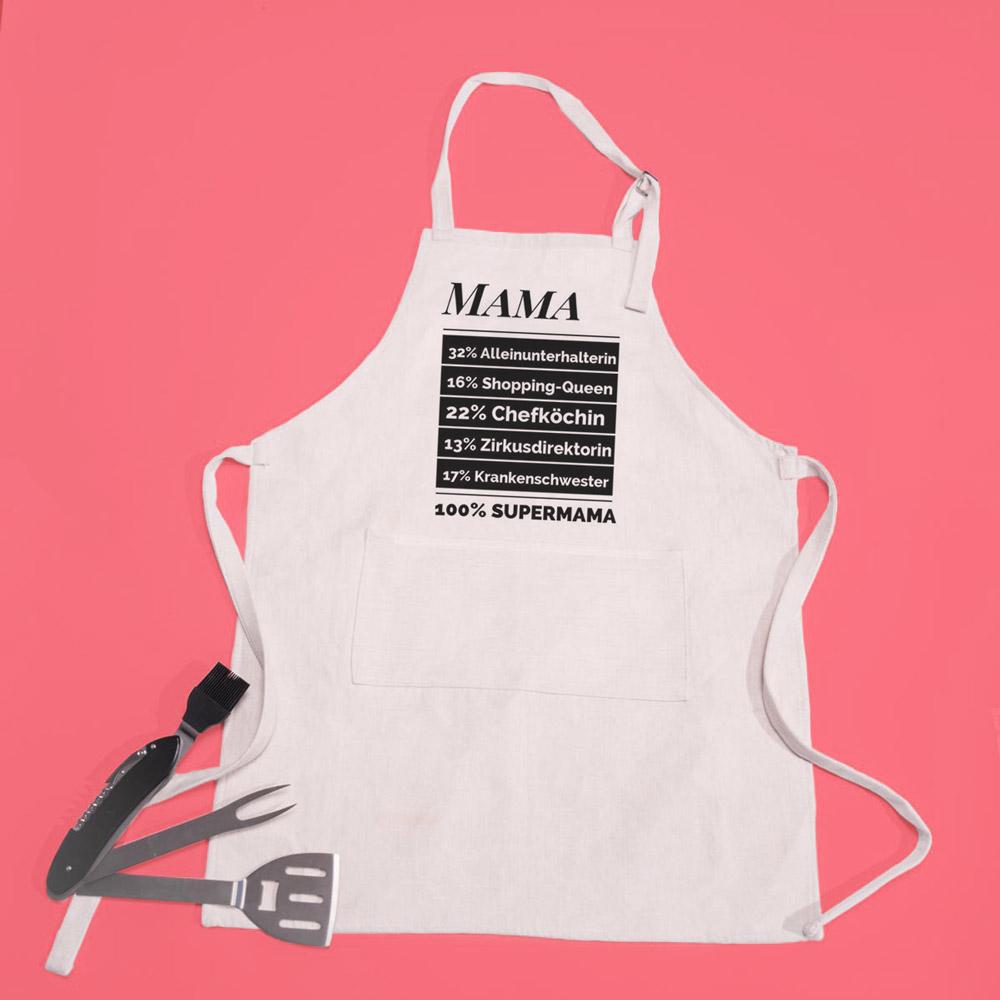 geschenke für mama personalisierbare küchenschürze