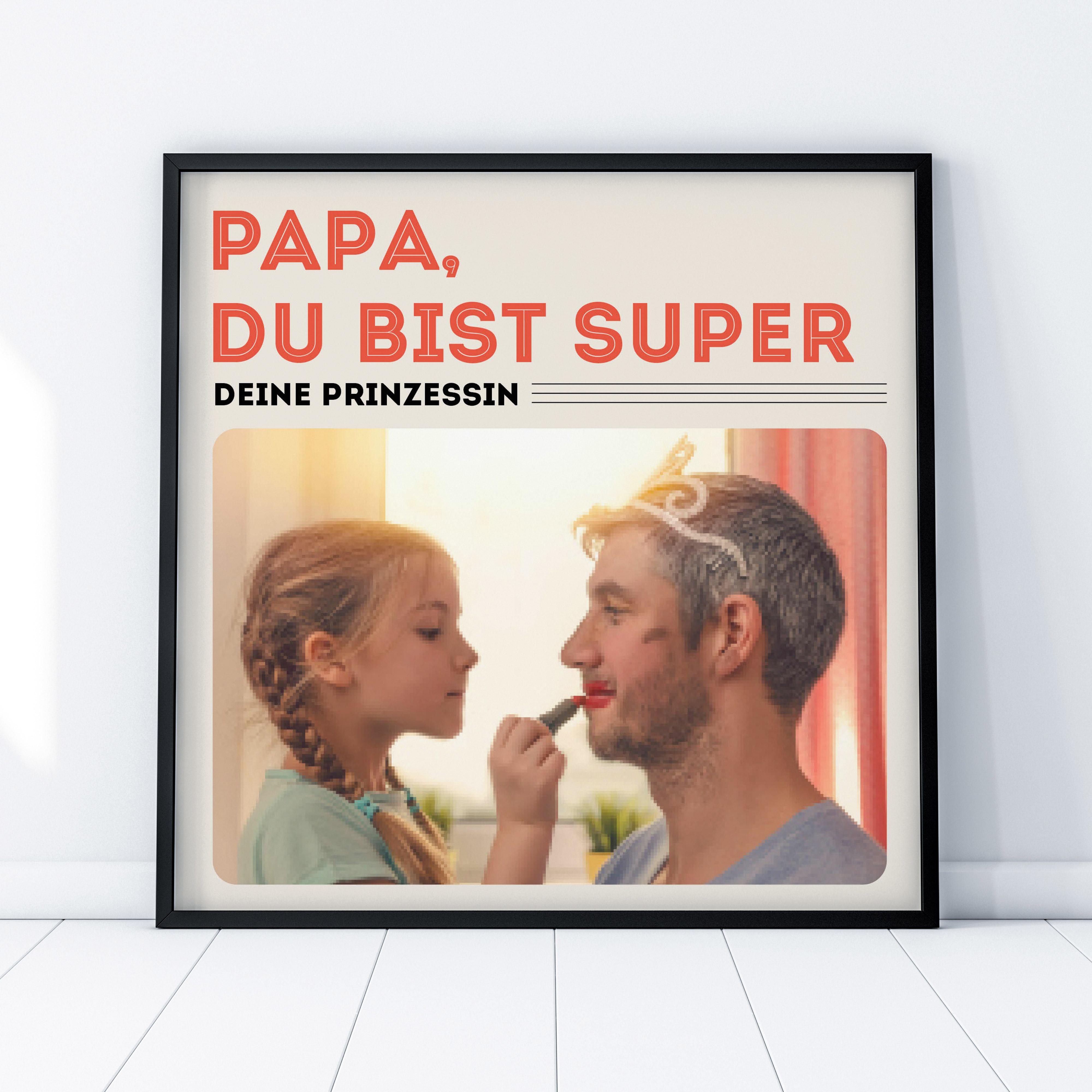 Geschenke für Papa Poster im Vinyl Cover Stil