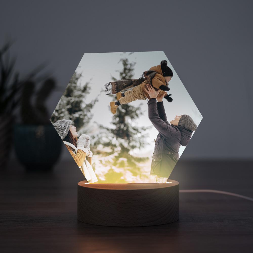 Weihnachtsgeschenke personalisierbare LED Leuchte mit Foto