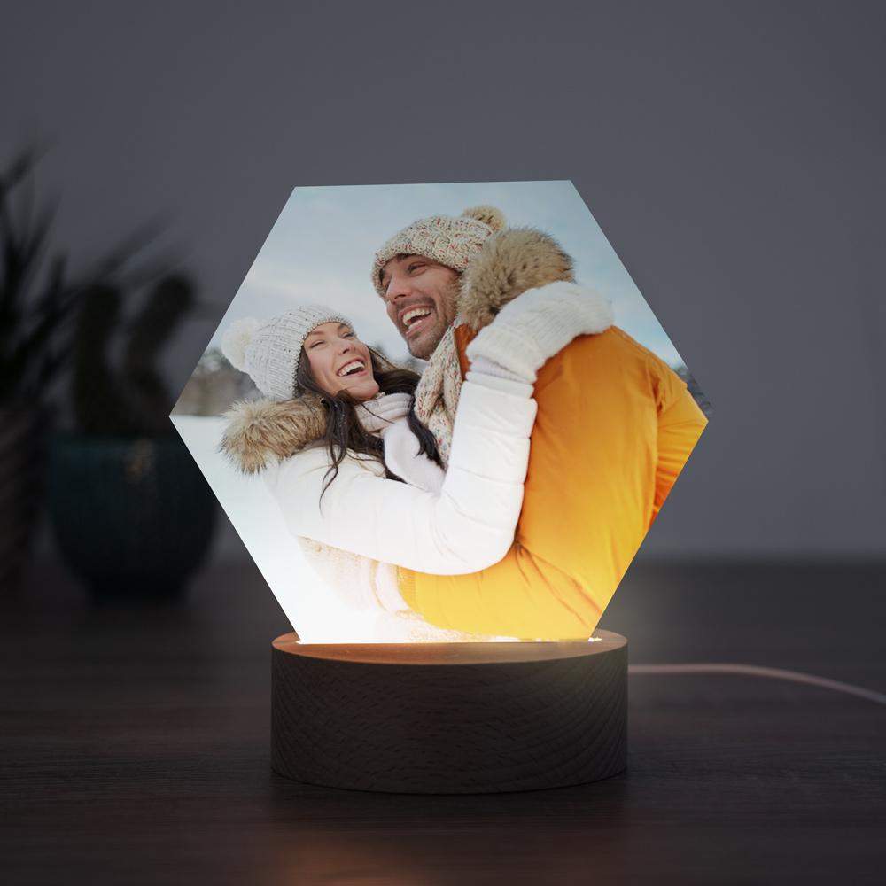 Weihnachtsgeschenke für Frauen personalisierbare LED-Leuchte mit foto