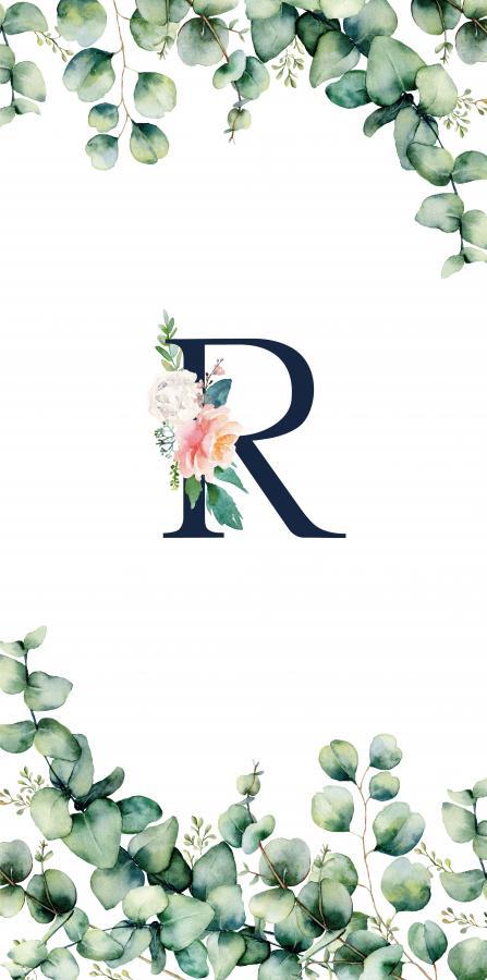 Handtuch mit Monogramm und Text (TOMOXT) - R
