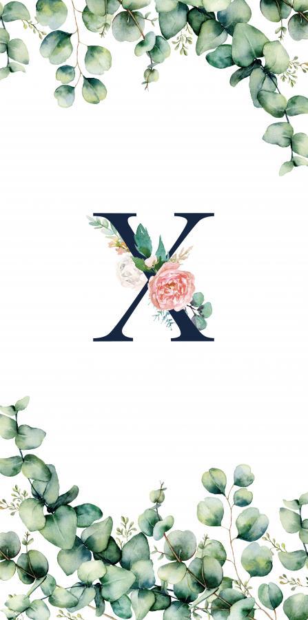 Handtuch mit Monogramm und Text (TOMOXT) - X