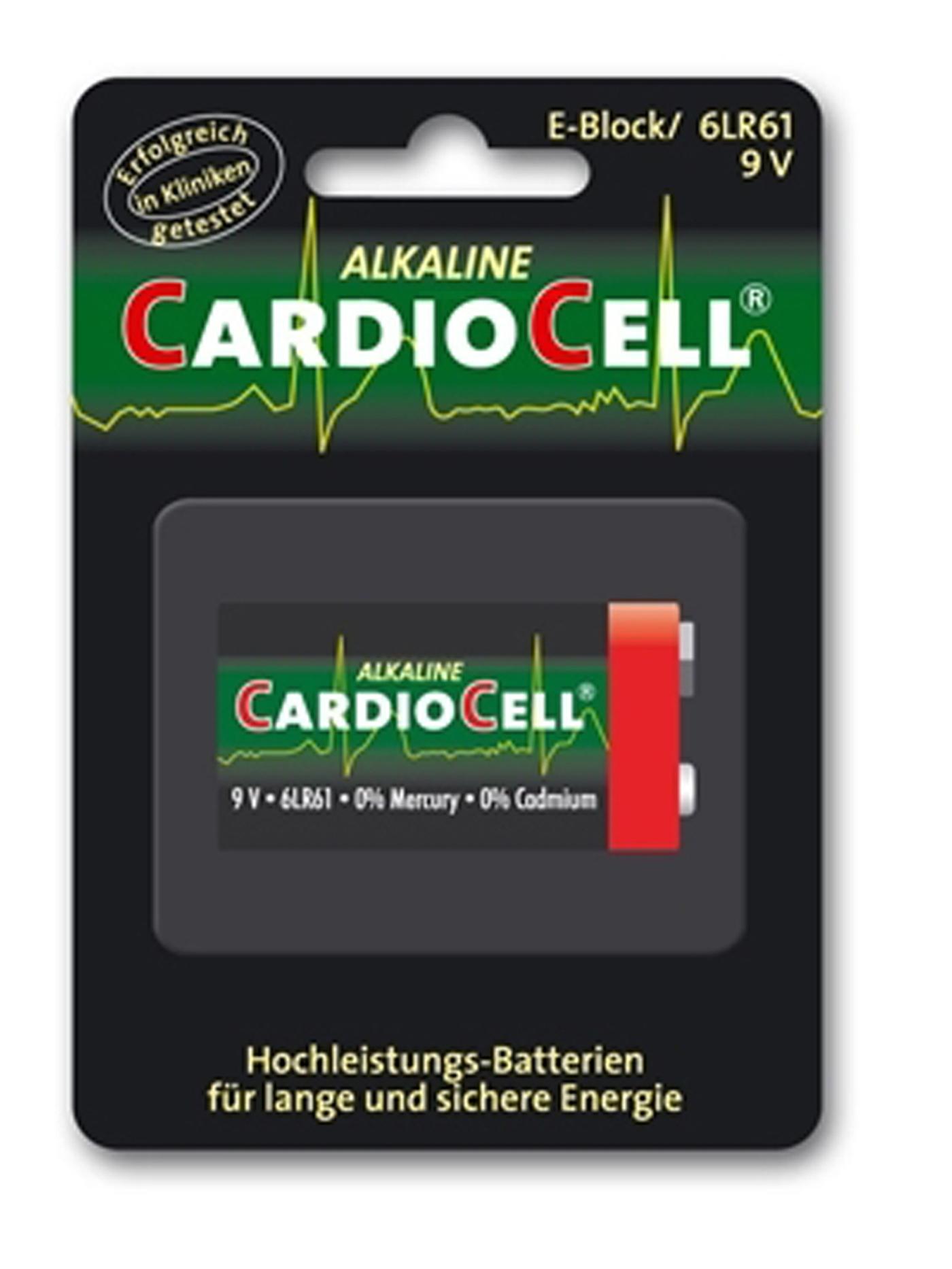 Image of Cardiocell Batterie 9 V Block -6LR61 1er Pack