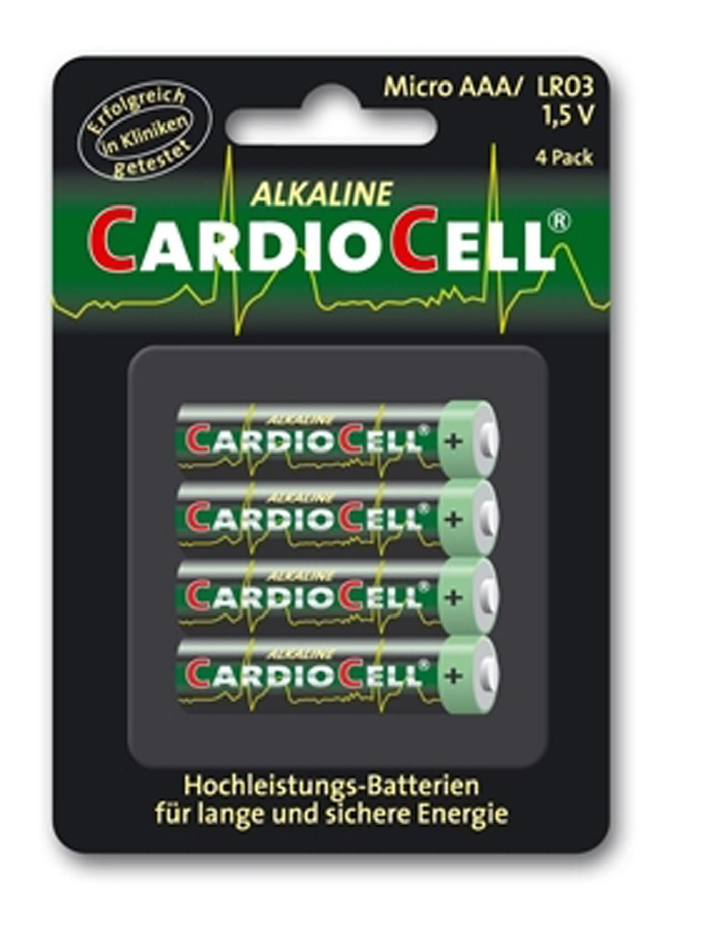 Image of Cardiocell Batterie AAA-LR03 4er Pack