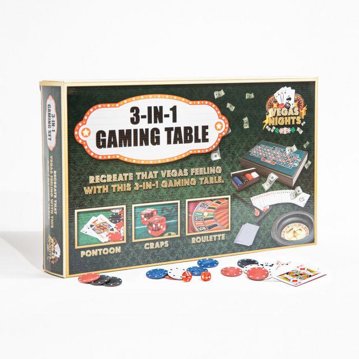 Vegas Nights 3 in 1 Mini Spieltisch