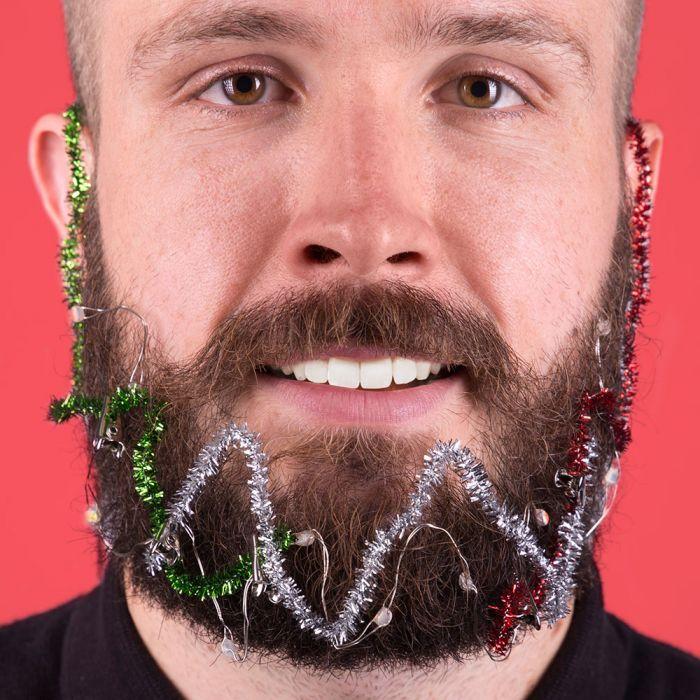 Weihnachts-Licht-Girlande für den Bart