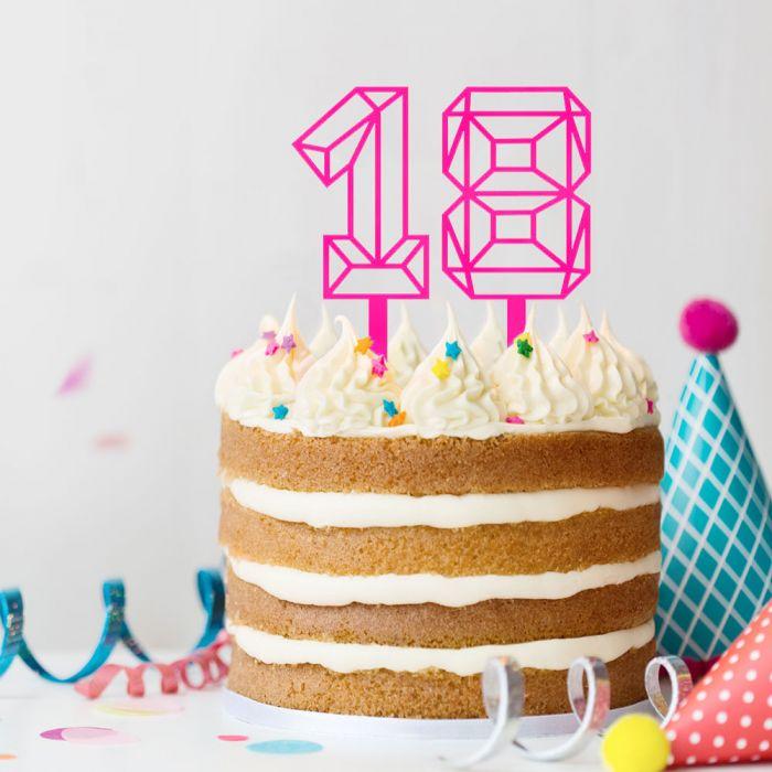 Cake Topper in Zahlenform