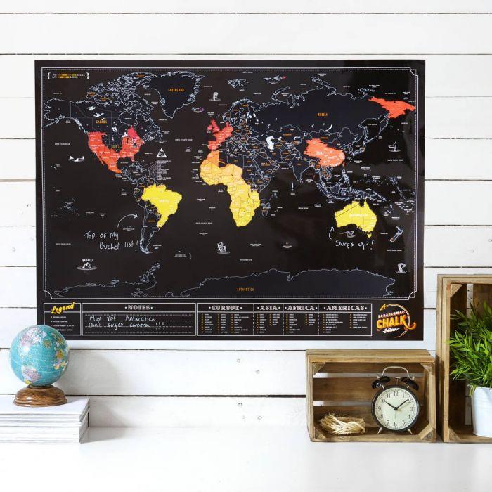Rubbel-Weltkarte Tafel