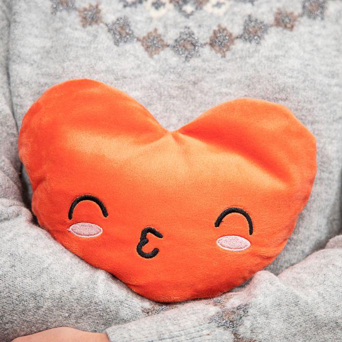 Erwärmbares Kissen in Herz-Form