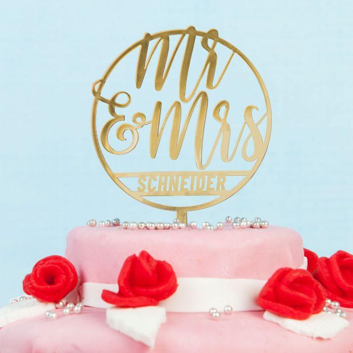 Personalisierbarer Cake Topper zur Hochzeit