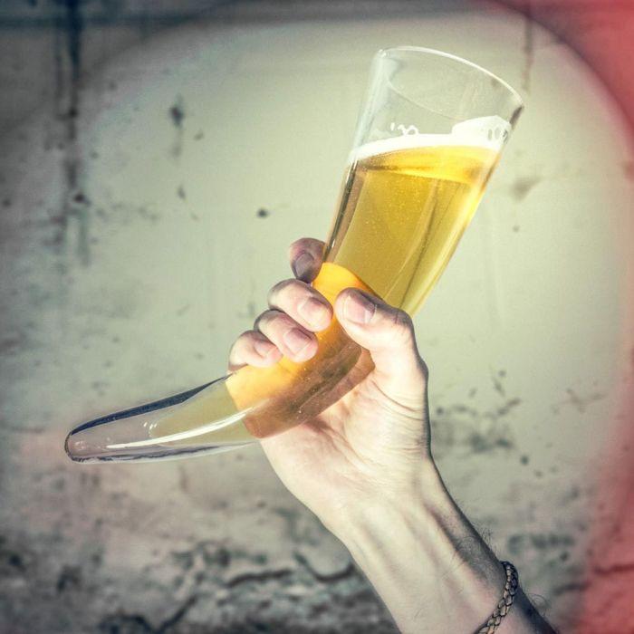 Wikinger Trinkhorn Glas