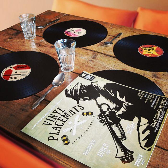 Vinyl-Tischsets im 4er-Set