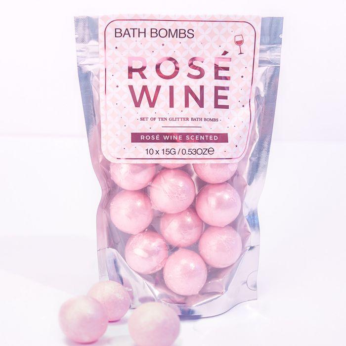 Badebomben Rosé-Wein
