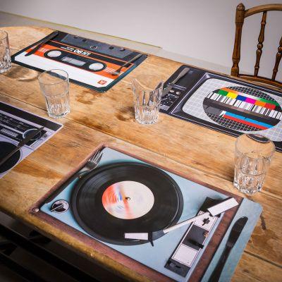 Retro Tischset - 4-teilig