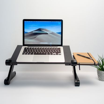 Universaler Laptop-Ständer in Schwarz