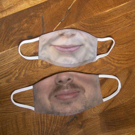Deine eigene Gesichtsmaske mit Bild (Medium)