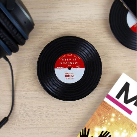 Induktions Ladegerät im Schallplatten-Design