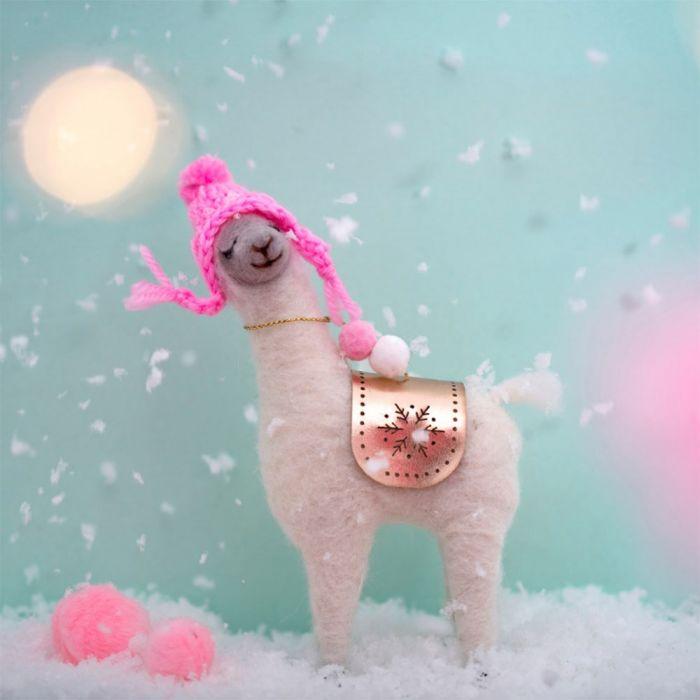 Fa La La Lama mit rosa Mütze