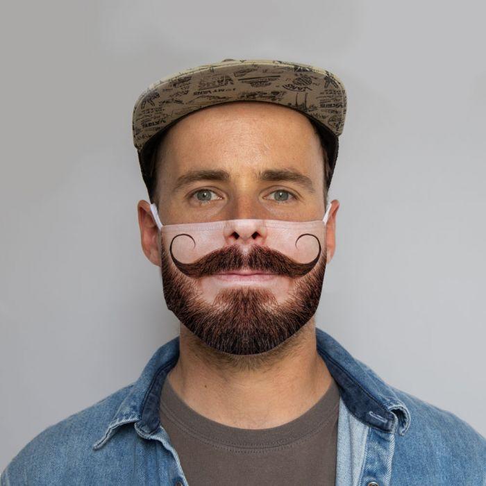Gesichtsmaske Schnurrbart