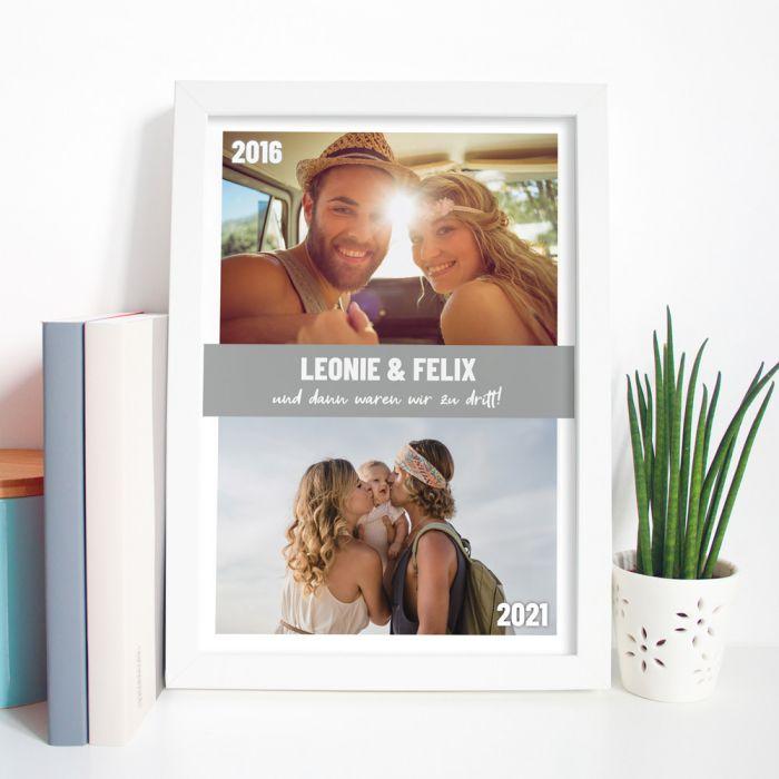 Poster mit 2 Bildern und Text