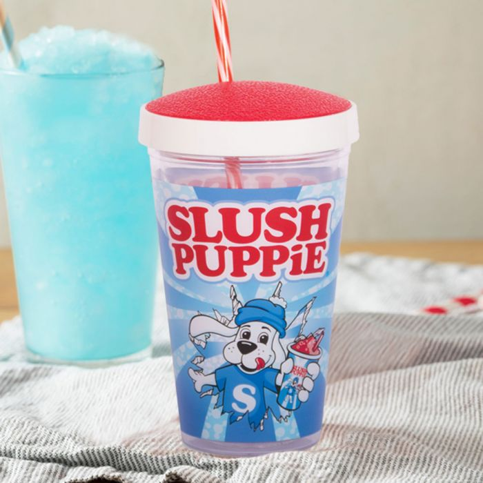 Slush Puppie Becher mit Trinkhalm