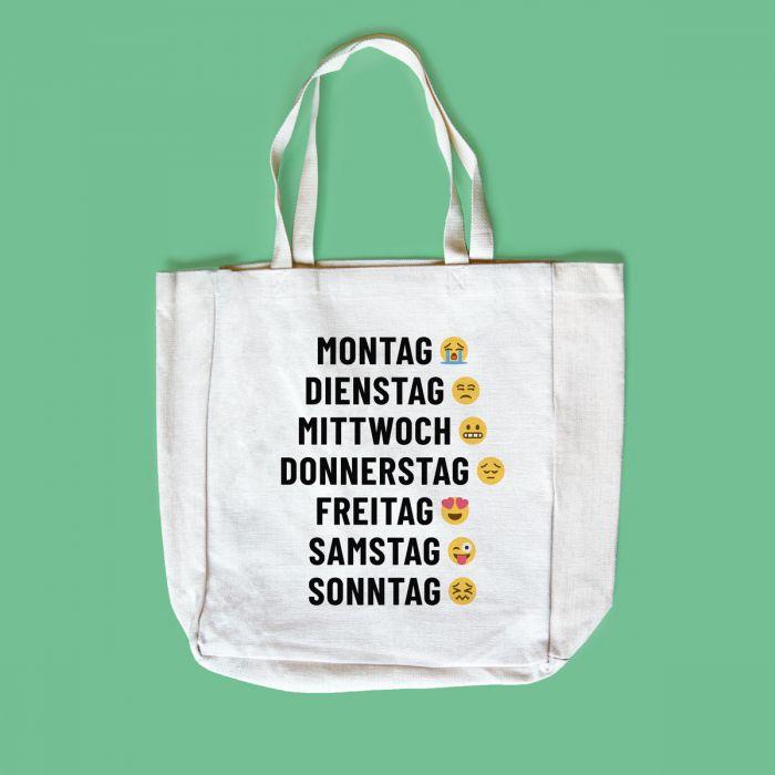 Personalisierbare Tasche mit 7 Zeilen