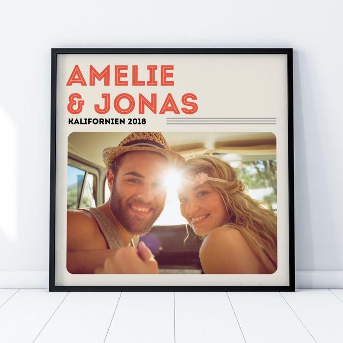 Poster im Vinyl Cover Stil