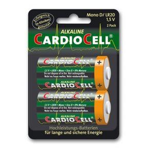 Cardiocell Batterie Mono D-LR20 2er Pack