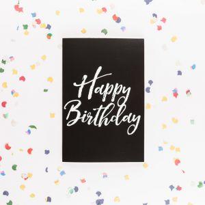Die endlose Geburtstagskarte mit Glitter