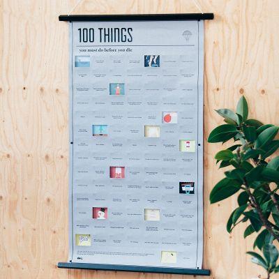 Geschenke für Frauen - Poster 100 Dinge, die du in deinem Leben noch machen musst